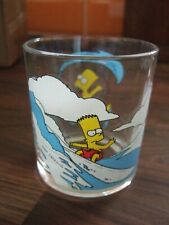 Collectable Nutella The Simpsons Glass Featuring Bart Simpson Surfing