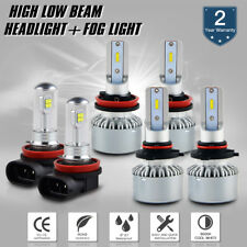 Bevinsee For Toyota Highlander 14-18 9005 H11 H11 LED Headlight Fog Light Bulb