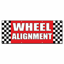 Wheel Alignment Auto Body Shop Car Repair Banner Sign 2 ft x 4 ft /w 4 Grommets