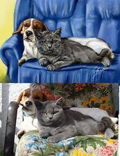 Portrait  nach IHREM Foto   / 2 Motive /  30 x 40 cm wie Hund und Katz ;-)