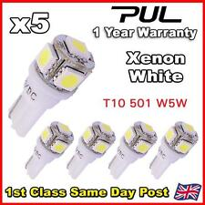 5 X 5 SMD LED T10 W5W 501 PUSH WEDGE NUMBER PLATE LIGHT BULB 360 HID WHITE