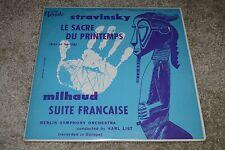 Stravinsky~Rite of Spring~Milhaud~Suite Francaise~Karl List~Royale 1465
