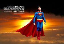 Película de Superman cita Sueños Decoración del Hogar Cuadro Imagen Pared arte cartel impresión nuevo