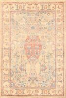 Geometric Sultanabad (Ziegler) Oriental AREA RUG hand-Knotted Nomadic Carpet 4x6