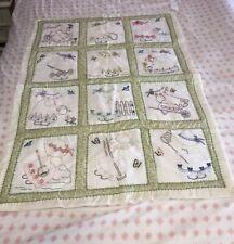 Vintage Sunbonnet Sue Doll Handmade Baby Quilt Blanket Girl Bonnet Patchwork