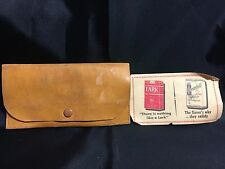 Vintage Leather Cigarette Wallets W/Match Holder W/Lark & Chesterfield Coupon
