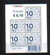 Nederland Nikkels V2135b, vel 5 x 10 cent cat waarde € 2