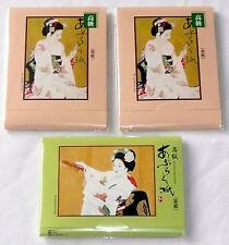 "SET OF 3 JAPANESE PREMIUM OIL BLOTTING PAPER Green/Orange 600 Sheets 4"" x 2.75"""