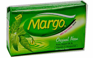 Margo Neem Soap Bar 100g Clear Skin free of acne pimples w/ Neem Oil Natural