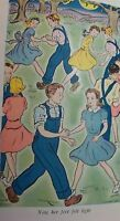 VINTAGE OLD  CHILDREN'S  BOOK NANCY OF APPLE TREE HILL May Justus