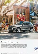2012 VW Volkswagen Touareg - Original Advertisement Print Art Car Ad J888