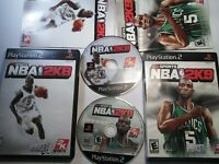 NBA 2K9 2K8 Sony PlayStation 2, 2008 2009 PS2 Complete CIB Basketball Lot