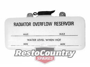 Holden Radiator Overflow Bottle HQ HJ HX reservoir tank expansion washer