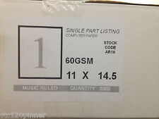 SINGLE PART LISTING PAPER 2000 SHEETS 60GSM 11 X 14.5