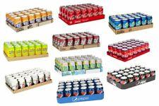 Crates of 24 330ml CANS - SOFT DRINKS COCA COLA PEPSI FANTA SPRITE 7UP DIET