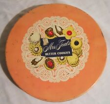 Rare Vintage One-Pound MRS. TEAL'S BUTTER COOKIES TIN with ALTMAN & Co. Label