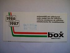 MODEL BOX CATALOGO 1986 - 1987 SCALA 1:43 FERRARI JAGUAR   ( cc33)