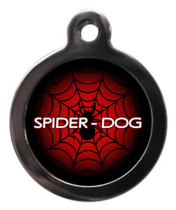 Pet ID Tag Spiderman Logo Web with Spider - Spider Dog two sizes Personalised