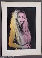 Vintage 1970's Retro PIN-UP Sexy Neon Nude MILF Long Hair Pinup Model PHOTO