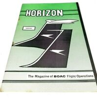 BOAC Horizon March April 1967 issue Vintage Staff Flight Operations Air Magazine