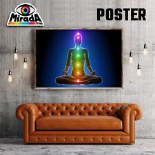 POSTER MEDITAZIONE  COLORI CHAKRA BENESSERE CARTA FOTOGRAFICA 35x50 50x70 70x100
