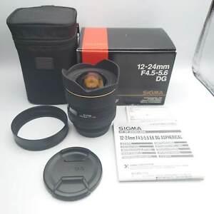 [MINT] Sigma AF 12-24mm f4.5-5.6 EX DG HSM ASL Lens For Canon EF From Japan