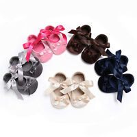 Baby Toddler Girl Princess Crib Shoes Soft Sole Prewalker Anti-slip Bow Sneakers