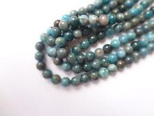 6mm Round Natural Blue Apatite Semi Precious Gemstone Beads - 66 Beads