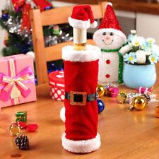 Hot Merry Christmas Santa Wine Bottle Bag Cover Xmas Dinner Party Table Decor