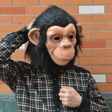 Cosplay Adult Costume Gorilla Monkey Animal Head Full Latex Mask Halloween Toys