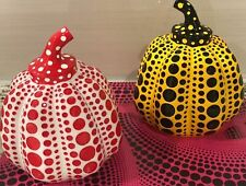 Yayoi Kusama Beautiful Kawaii Object [ pumpkin ] Paperweight  RED & YELLOW Set