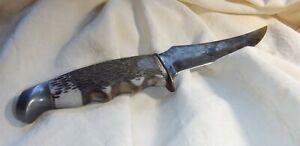 Vintage Schrade Walden #148 N.Y. USA Bone Handle Fixed Blade Hunting Knife