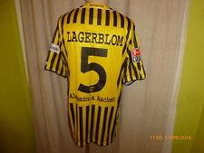 """Alemannia Aachen Jako Matchworn Trikot 2008/09 """"A M"""" + Nr.5 Lagerblom Gr.M- L"""