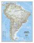 South America Classic, Enlarged &, Laminated: Wall Maps Continents