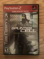 SPLINTER CELL GREATEST HITS - PS2 - COMPLETE WITH MANUAL - FREE S/H - (HH)