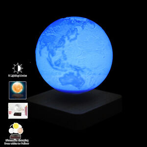 Levitating Moon Lamp Floating & Spinning 3D Earth Light 3 Colors Birthday Gifts