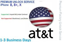 AT&T Semi-Premium Express Unlock Service for iPhone 8, 8+,X  1-3 Day