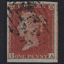 B22 GB QV 1841 1d RED-BROWN PLATE 157 SG8-B1(1) IA FU 4 BIG MARGINS