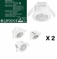 2X Recessed 360 Degree PIR Ceiling Occupancy Motion Sensor Detector Light Switch