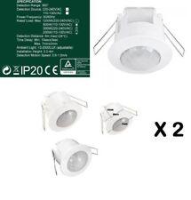 2X Recessed 360 Degree PIR Ceiling Occupancy Motion Sensor Detector Light Switch