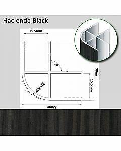 15mm Aluminium 800mm Corner Edge Jointing Trim Profile T5 T6 Camper Hacienda