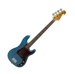 Guitar Electric Bass 3/4 size PB Style Double cutaway in Blue with Gig Bag by SX
