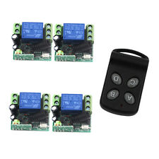 DC 12V 4CH RF Wireless Remote Control Radio Switch Transmitter Receiver