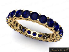 2.17Ct Round Sapphire Shared Prong Gallery Wedding Eternity Ring 10k Gold AAA