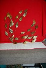 Home Interior Set of 2 Large Copper & Metal Leaf Leaves Wall Hanging Leaves T3