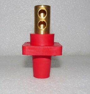 NEW CROUSE HINDS CAM-LOK E1016-1727 RECEPTACLE 1 POLE FEMALE RED