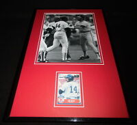 Jim Rice Signed Framed 11x17 Photo Display Boston Red Sox Fight
