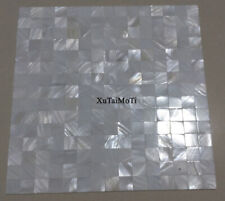 White square bathroom tile backsplash shower white mother of pearl shell mosaic