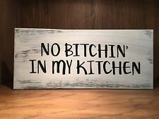 Kitchen Rustic Distressed farmhouse style Wood Sign, decor, country, free ship