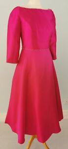 NEW Veni Infantino 10 12 Pink Fit Flare Dress Mother of Bride Occasion Party